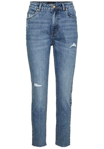 Vero Moda Straight-Jeans »VMBRENDA HR STRT A CUT DST« kaufen