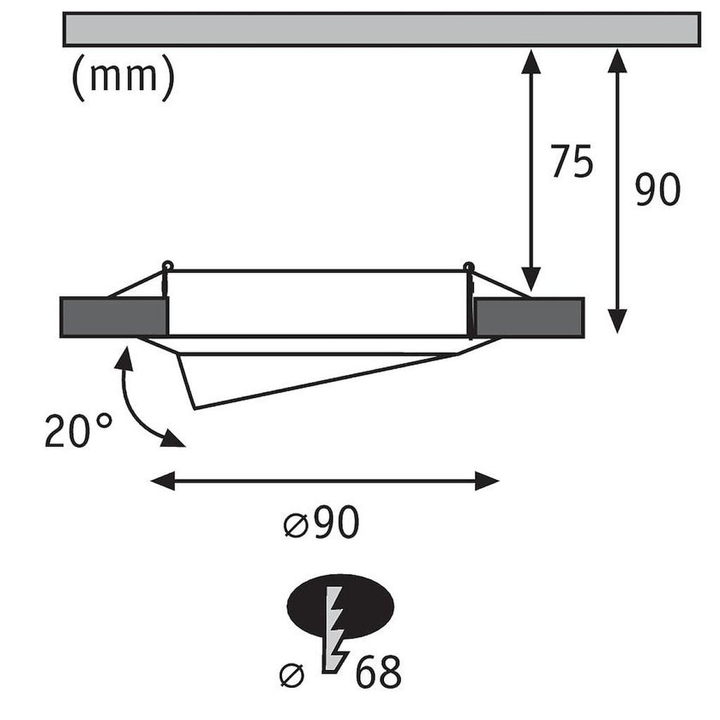 Paulmann LED Einbaustrahler »schwenkbar Base rund 1x5W GU10 Weiß matt«, GU10, 1 St., Warmweiß