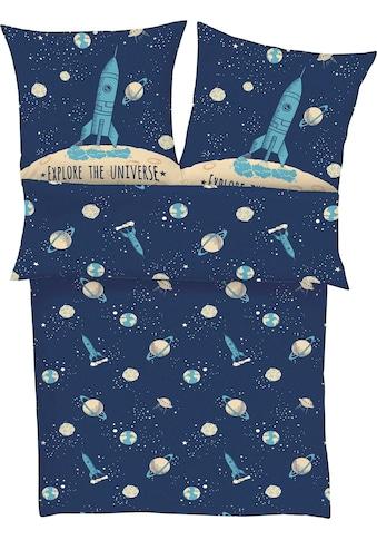 s.Oliver Junior Kinderbettwäsche »Explore the Universe«, mit Weltraum Motiv kaufen