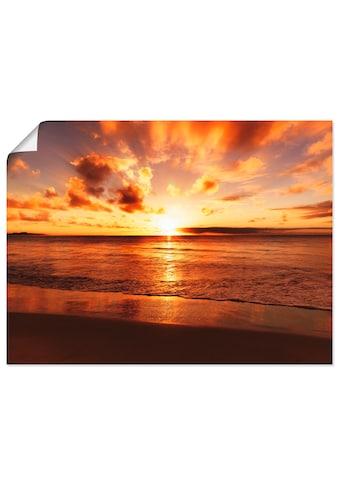 Artland Wandbild »Schöner Sonnenuntergang Strand«, Gewässer, (1 St.) kaufen