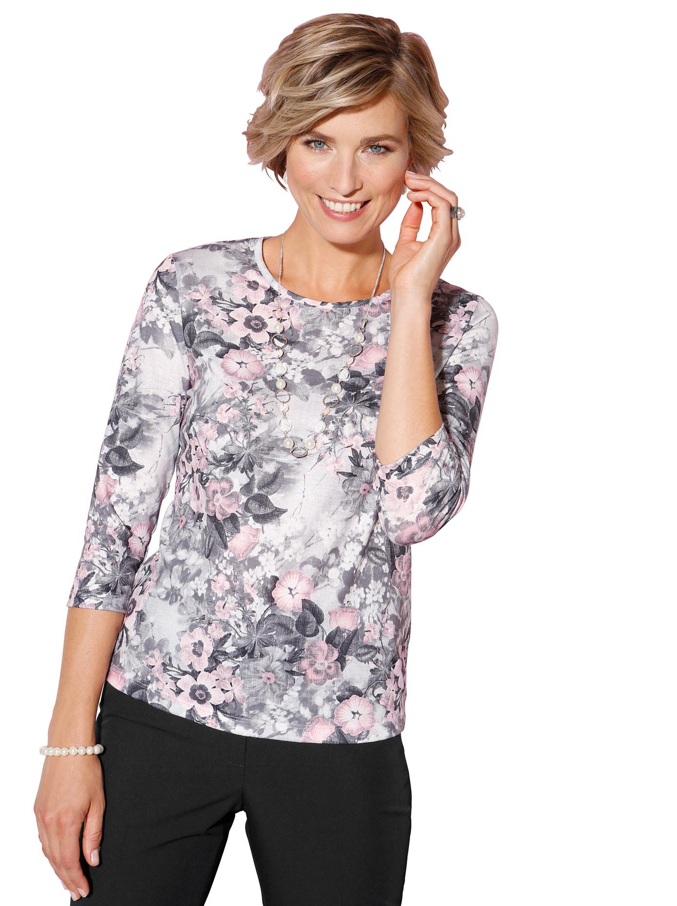 classic -  Shirt mit Floral-Druck