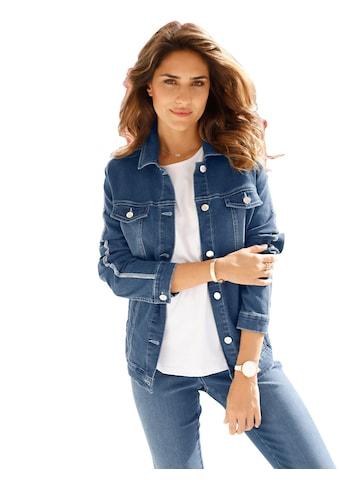 Classic Basics Jeans - Jacke mit silberfarbig schimmernde Streifen kaufen