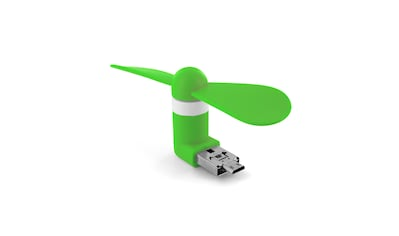 XLAYER Ventilator »Colour Line Mini Fan 2 - in - 1 Micro USB & USB Green« kaufen