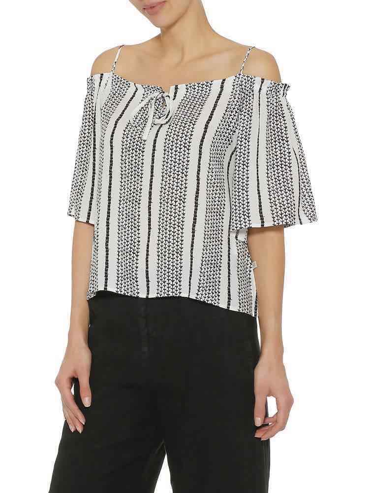Herrlicher Bluse im schulterfreien Design