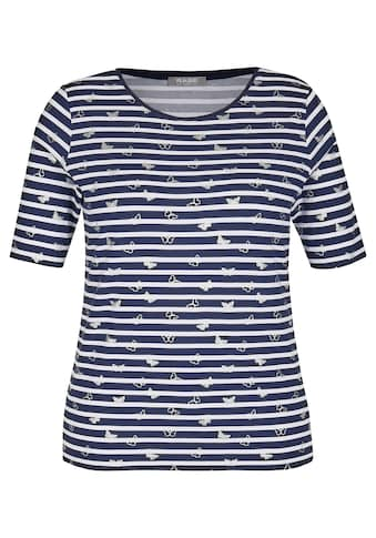 Rabe T-Shirt, mit Allover-Muster und Glitzersteinen kaufen