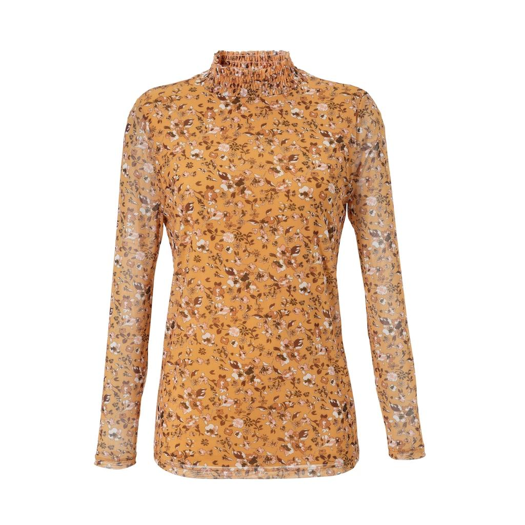 Aniston SELECTED Langarmshirt, aus Mesh - NEUE KOLLEKTION