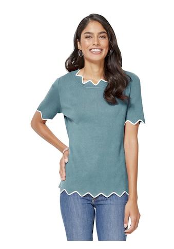 Inspirationen Pullover mit femininen, weichen Zick - Zack - Kanten kaufen