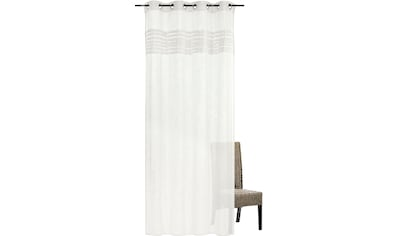 freundin Home Collection Gardine »FD Natural Charme 001«, Ösenschal, 255x140 cm kaufen