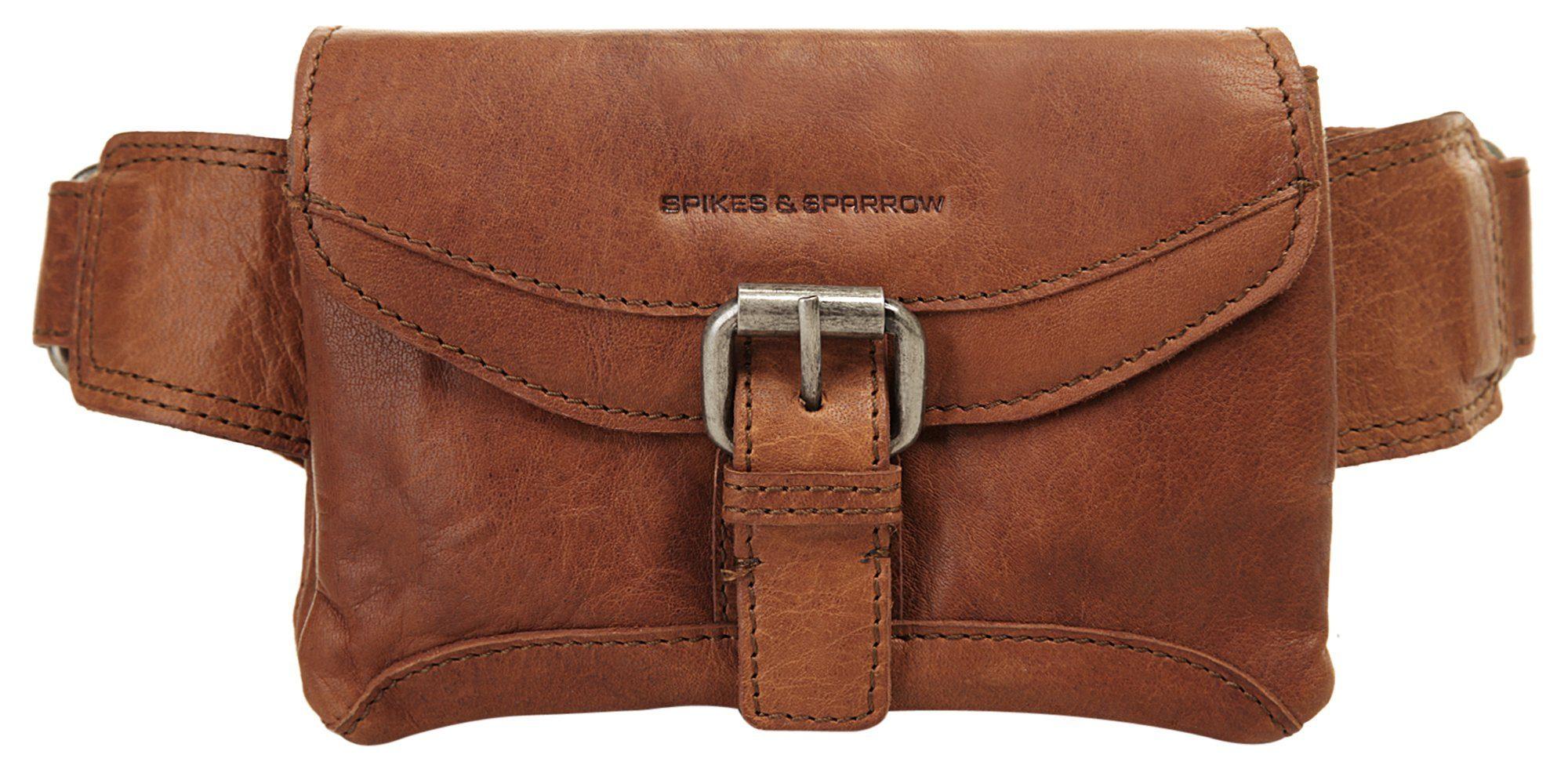 Spikes & Sparrow Gürteltasche, elastisch braun Damen Handtaschen Taschen Gürteltasche