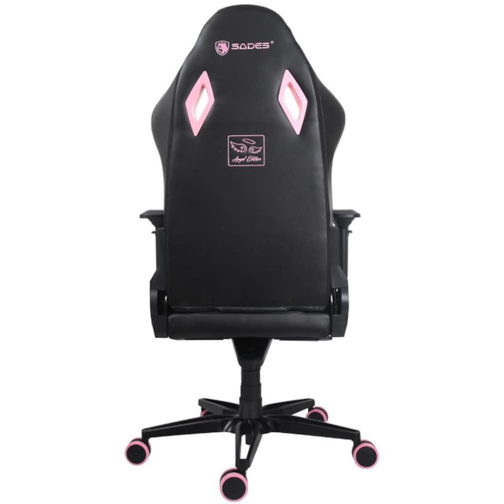 Sades Gaming-Stuhl »SADES Pegasus SA-AD5 Gaming Stuhl schwarz/pink«