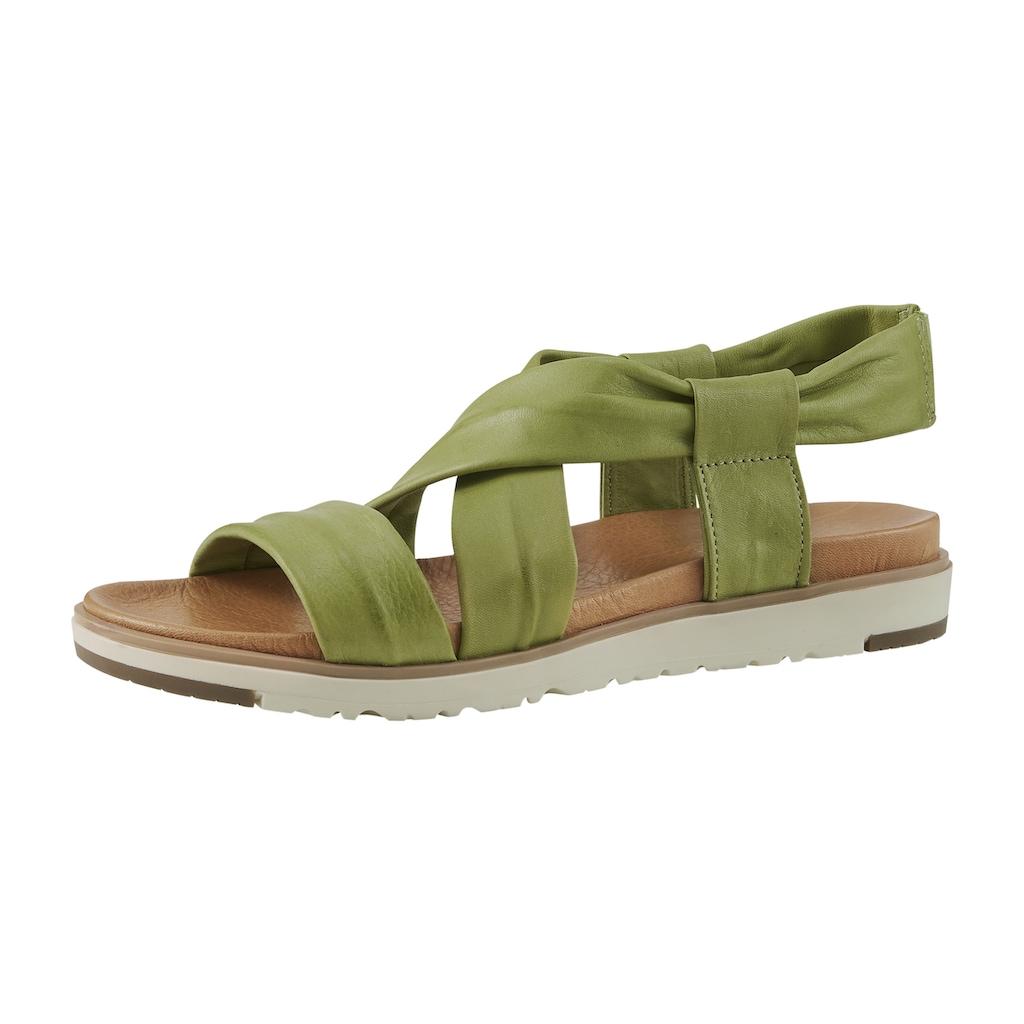 Sandalette mit gekreuzten Bändern