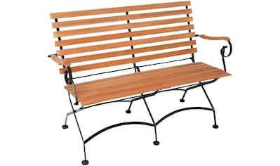 MERXX Gartenbank Stahl/Eukalyptus, 125x85x58 cm, braun kaufen