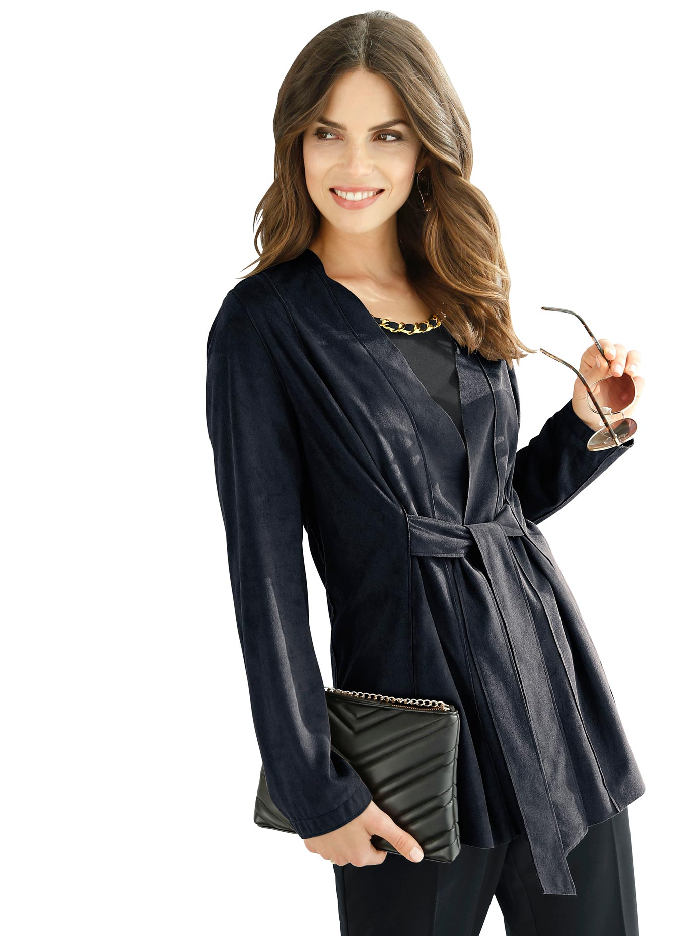 Lady Blusenblazer in Veloursleder-Optik | Bekleidung > Blazer > Blusenblazer | Lady