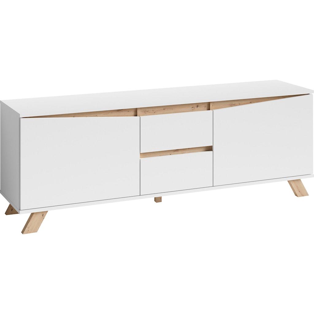 byLIVING TV-Board »Valentin«, Breite 160 cm, in matt weiß