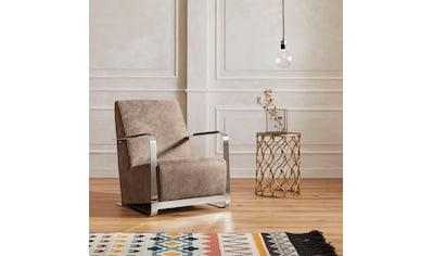 Guido Maria Kretschmer Home&Living Sessel »Ferrand«, mit außergewöhnlichem Armlehnendesign, in 4 Trendfarben kaufen