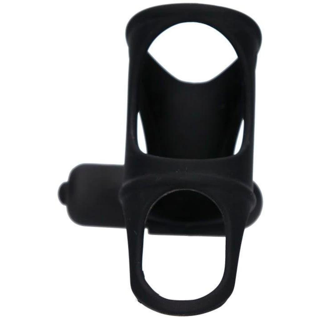BLACK VELVETS Penismanschette, mit 10 Vibrationsmodi