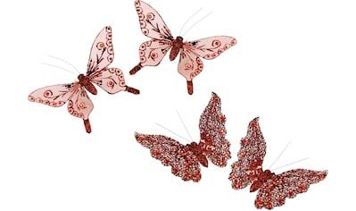I.GE.A. Dekofigur »Deko-Schmetterling mit Clip«, (4er Set) kaufen