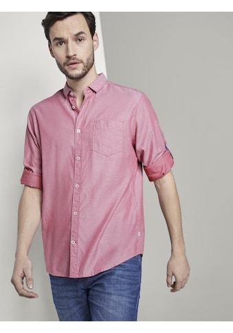 TOM TAILOR Langarmhemd »Gemustertes Hemd mit Haifisch-Kragen« kaufen