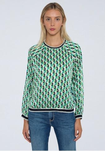 Pepe Jeans Schlupfbluse »ARY«, mit tollem Print und kontrastfarbenen Bündchen kaufen