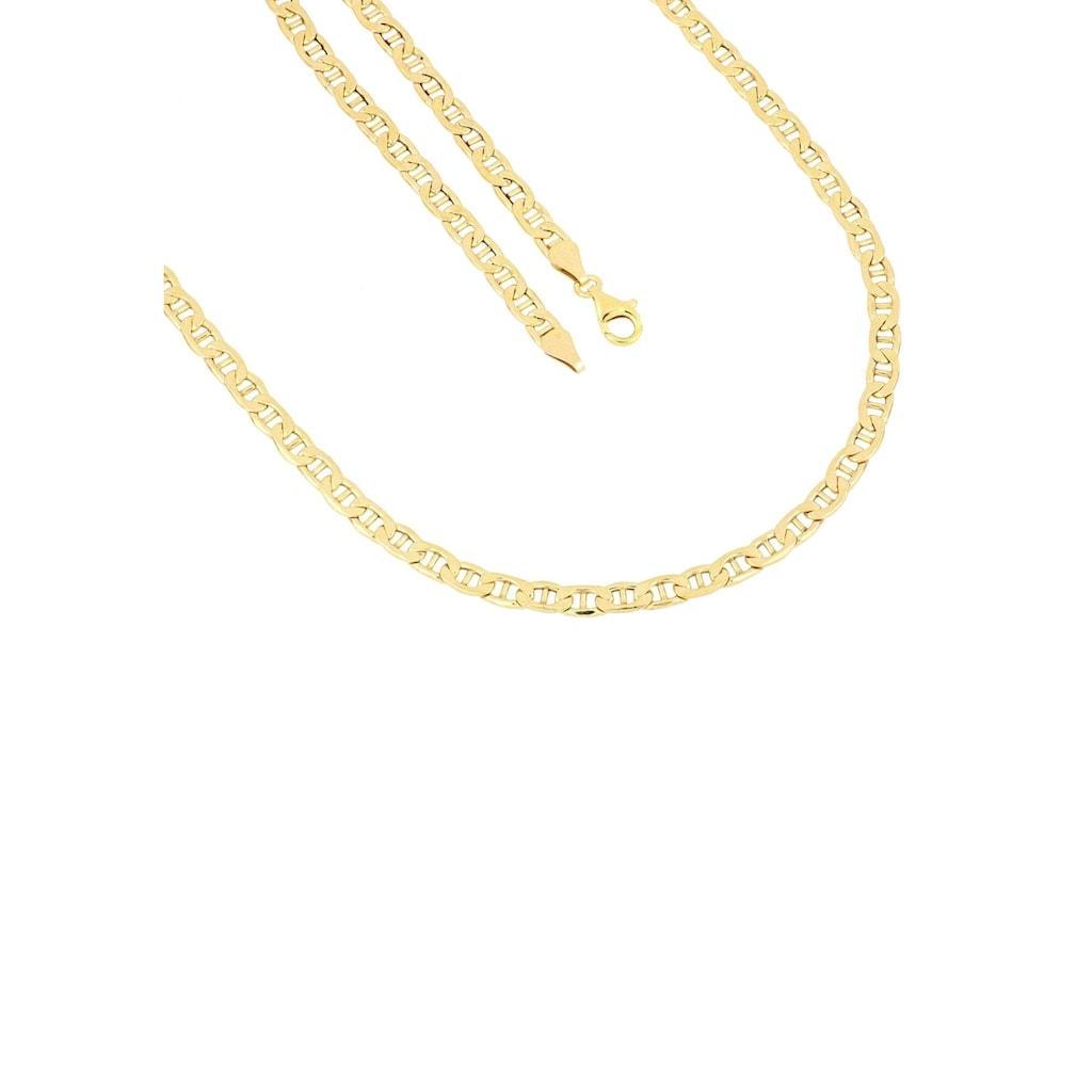 Firetti Kette ohne Anhänger »Stegpanzerkettengliederung, 4,8 mm, glänzend, 2-fach diamantiert«