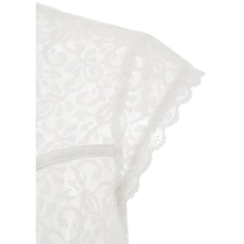 MarJo Dirndlbluse, mit angeschnittenen Ärmeln