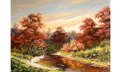 Papermoon Fototapete »Herbstlandschaft«, Vliestapete, hochwertiger Digitaldruck kaufen