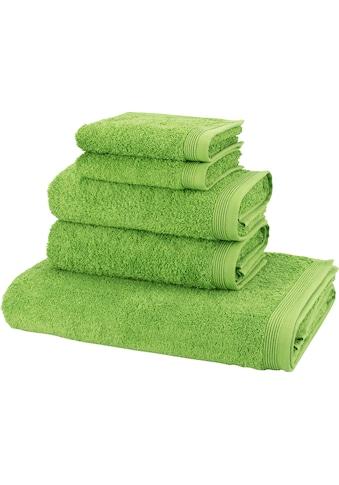 Möve Handtuch Set »Basic«, in hochwertigster Walkfrottier Qualität kaufen