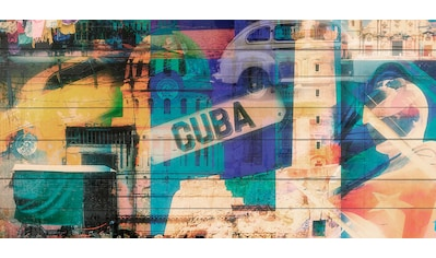 queence Holzbild »Welcome to Cuba«, 40x80 cm kaufen