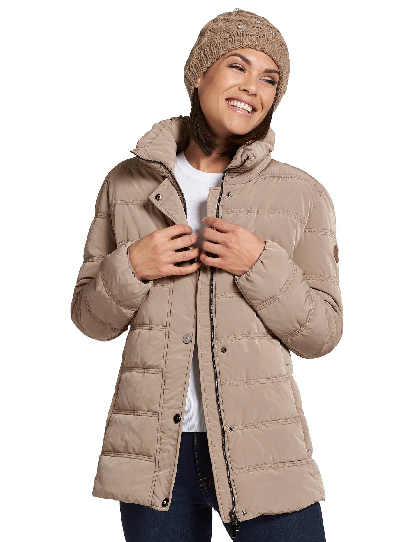Wega Fashion Jacke in wohlig wärmender Stepp-Qualität braun Damen Steppjacken Jacken Mäntel Jacken, lang