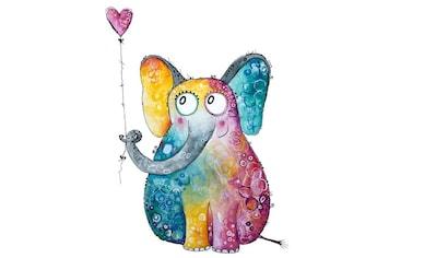 Wall-Art Wandtattoo »Elefant mit Herz Luftballon« kaufen
