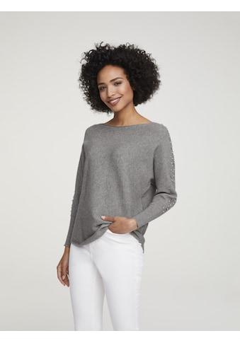 Oversized Pullover mit Schmuckbesatz kaufen