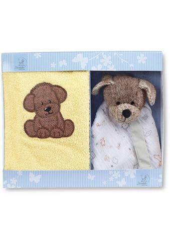 Sterntaler® Schmusetuch »Hanno II«, (2 tlg.), mit Kinderhandtuch kaufen