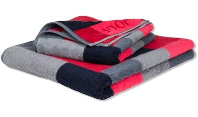 Joop! Handtücher »INFINITY Mosaic«, (2 St.), mit kontrastfarbenen Karos kaufen