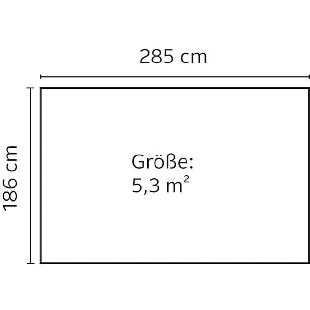 YARDMASTER Stahlgerätehaus »Brandenburg 106«, BxT: 303x197 cm