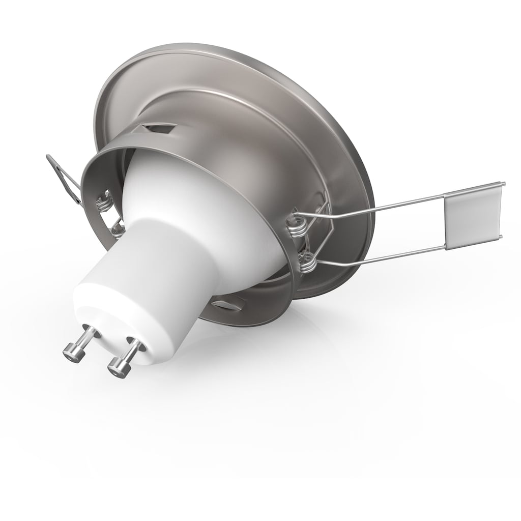 B.K.Licht LED Einbauleuchte, GU10, 5 St., Warmweiß, LED Einbaustrahler dimmbar ohne Dimmer GU10 Decken-Spot inkl. 5W 400lm 5er SET