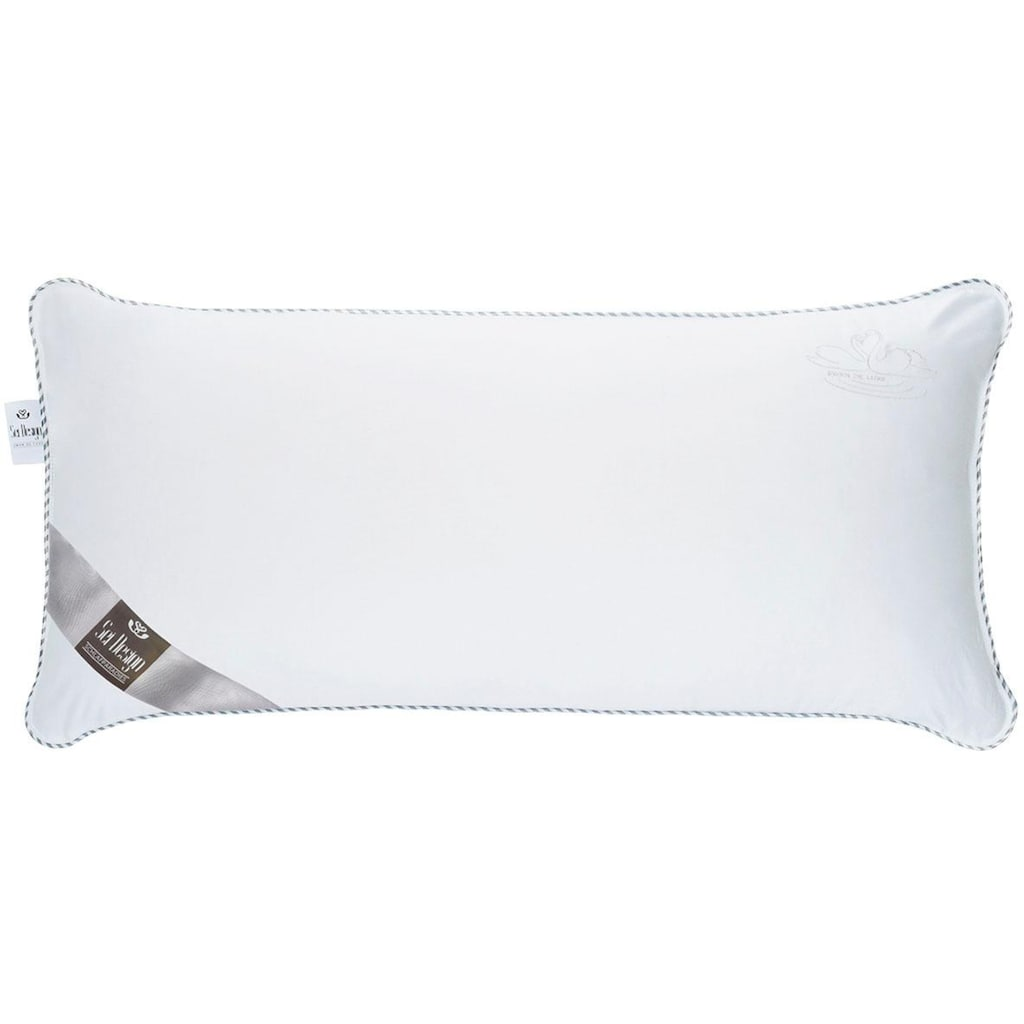 SEI Design Microfaserkissen »SWAN DE LUXE«, Füllung: Mikro-Hohlfaser (100% Polyester), Bezug: 100% Baumwolle, (1 St.)