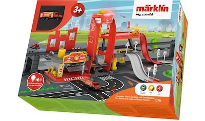 Märklin Modelleisenbahn-Gebäude »Märklin my world - Feuerwehr Station mit Licht- und Soundfunktion - 72219« kaufen