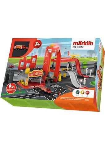 """Märklin Modelleisenbahn - Gebäude """"Märklin my world  -  Feuerwehr Station mit Licht -  und Soundfunktion  -  72219"""", Spur H0 kaufen"""