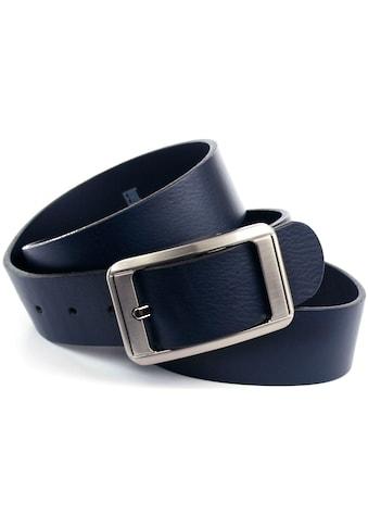 Anthoni Crown Ledergürtel, Jeansgürtel mit silberfarbener Schließe kaufen