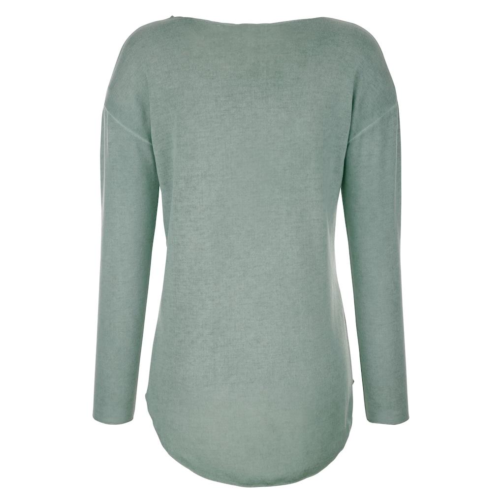 Dress In Langarmshirt, mit außergewöhnlicher Waschung