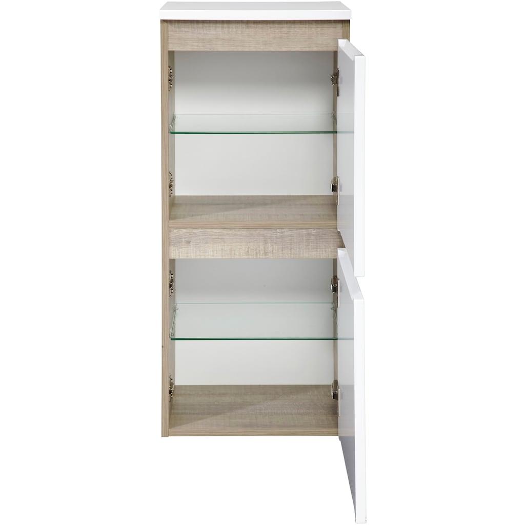 FACKELMANN Midischrank »Piuro«, Mehrzweckschrank, H/B/T: 89,5 x 40,5 x 30,5 cm, 2 Türen
