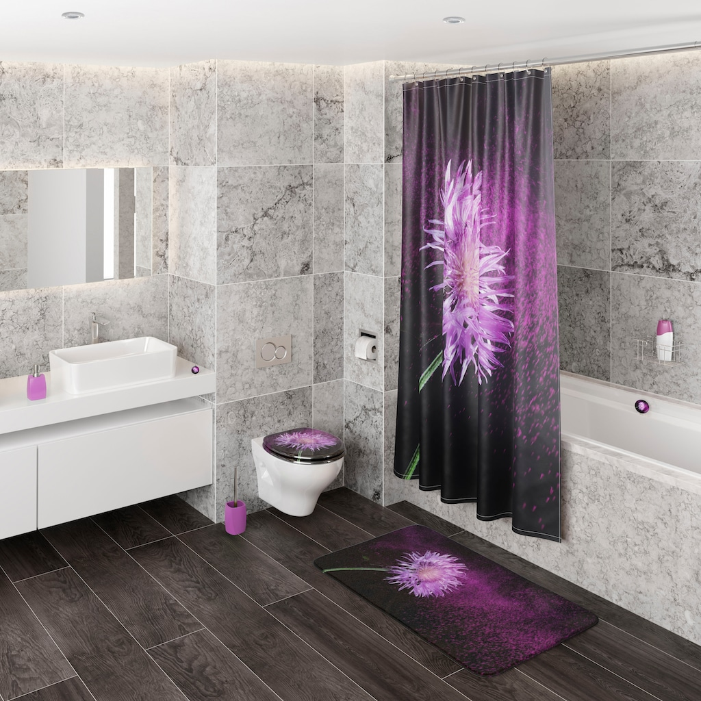 Sanilo Badematte »Purple Dust«, Höhe 15 mm, schnell trocknend, Memory Schaum