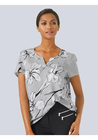 Alba Moda Blusenshirt mit effektvollem Blumenprint kaufen