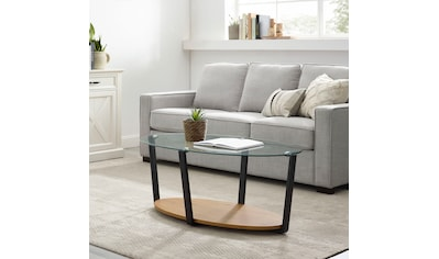 Home affaire Couchtisch »Ätna«, Tischplatte aus gehärtetem Glas 0,8 cm, Bodenplatte... kaufen