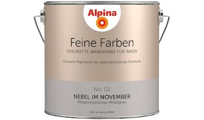 ALPINA Wand -  und Deckenfarbe »Feine Farben  -  Nebel im November«, 2,5 l kaufen