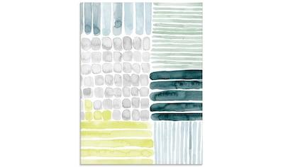 Artland Glasbild »Abstrakte Striche II«, Muster, (1 St.) kaufen