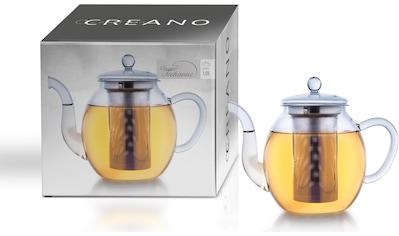 Creano Teekanne, 1,0 l, Borosilikatglas, Edelstahl kaufen