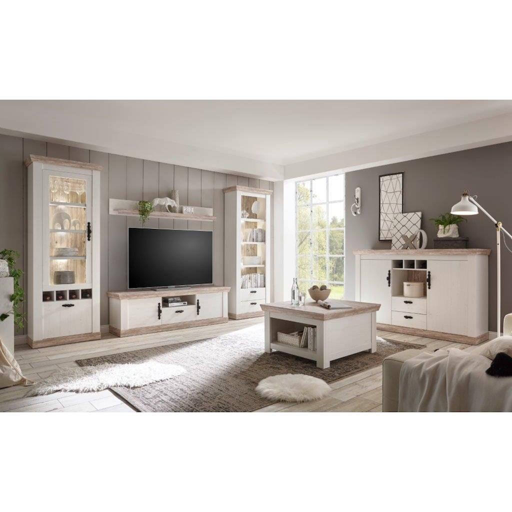 Home affaire Stauraumvitrine »Florenz«, im romatischen Landhaus-Look, Höhe 201 cm