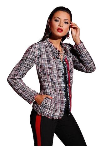 Bouclé - Blazer im Multicolour - Stil kaufen