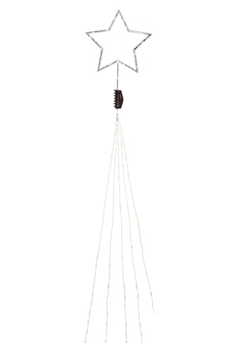 KONSTSMIDE LED-Lichtervorhang, 274 St.-flammig, LED Baummantel mit silberfarbenem... kaufen
